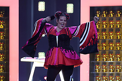 May 7, 2018 - Lisbon, Portugal - Singer Netta of Israel performs during the Dress Rehearsal of the first Semi-Final of the 2018 Eurovision Song Contest, at the Altice Arena in Lisbon, Portugal on May 7, 2018. (Credit Image: © Pedro Fiuza/NurPhoto via ZUMA Press)