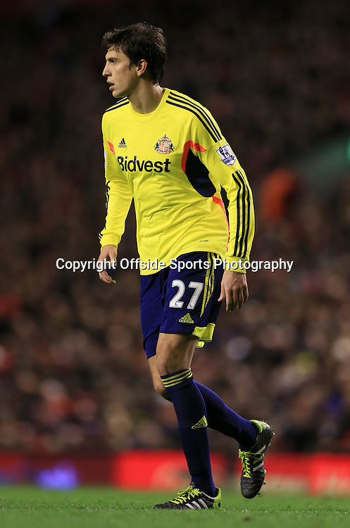 26th March 2014 - Barclays Premier League - Liverpool v Sunderland - Santiago Vergini of Sunderland - Photo: Simon Stacpoole / Offside.