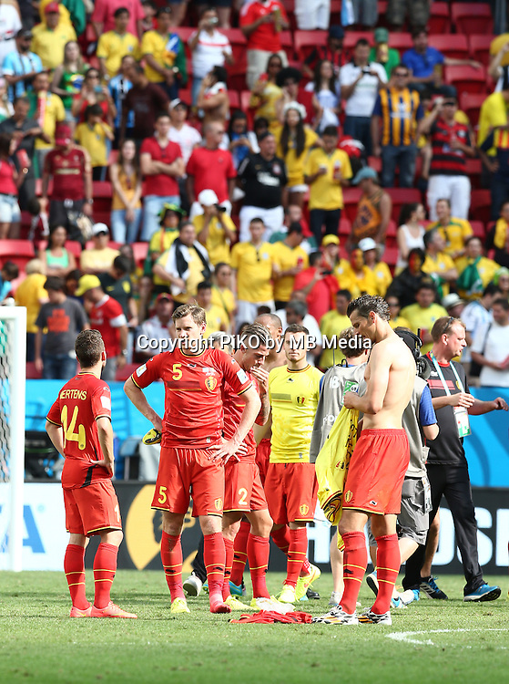 Fifa Soccer World Cup - Brazil 2014 - <br /> ARGENTINA (ARG) Vs. BELGIUM (BEL) - Quarter-finals - Estadio Nacional Brasilia -- Brazil (BRA) - 05 July 2014 <br /> Here Belgian players after loss the match<br /> &copy; PikoPress