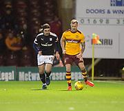 23rd December 2017, Fir Park, Motherwell, Dundee; Scottish Premier League football, Motherwell versus Dundee; Motherwell's Richard Tait and Dundee's Jon Aurtenetxe