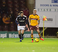 23rd December 2017, Fir Park, Motherwell, Dundee; Scottish Premier League football, Motherwell versus Dundee; Motherwell's Richard Tait and Dundee's Jon Aurtenetxe