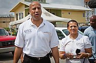 Former New Orleans Mayor Ray Nagin at an event commerating Katrina's four year aniversary in the Lower 9th Ward at the Make-it- RIght houses in 2009.