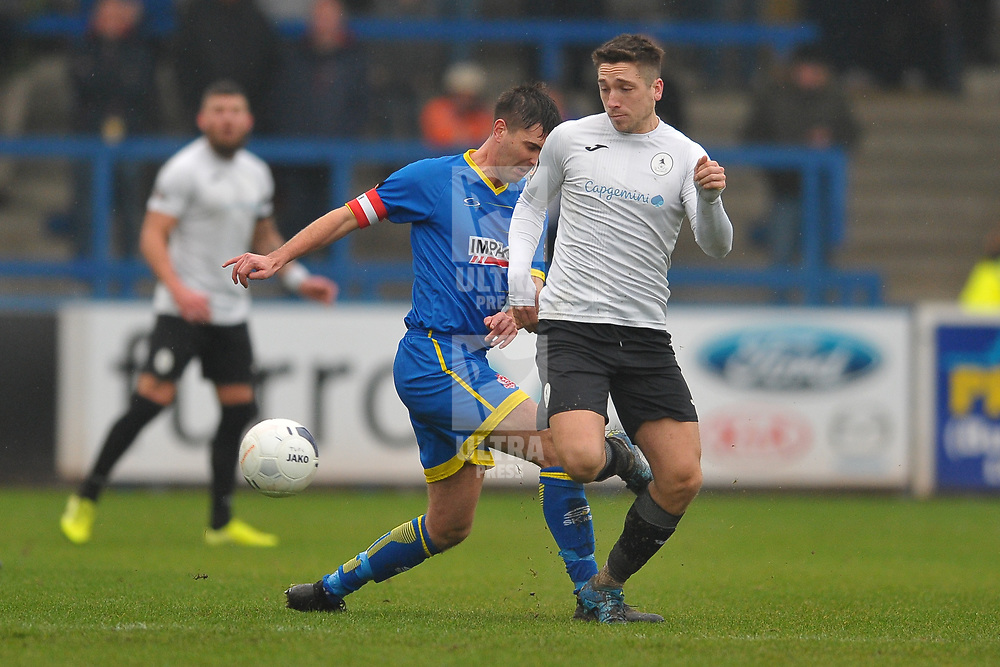 TELFORD COPYRIGHT MIKE SHERIDAN Adam Walker of Telford during the Vanarama Conference North fixture between AFC Telford United and Alfreton Town at the New Bucks Head Stadium on Thursday, December 26, 2019.<br /> <br /> Picture credit: Mike Sheridan/Ultrapress<br /> <br /> MS201920-036