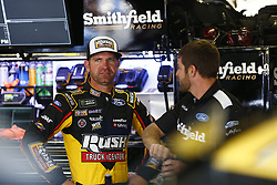 November 3, 2018 - Ft. Worth, Texas, United States of America - Clint Bowyer (14) hangs out in the garage during practice for the AAA Texas 500 at Texas Motor Speedway in Ft. Worth, Texas. (Credit Image: © Justin R. Noe Asp Inc/ASP via ZUMA Wire)