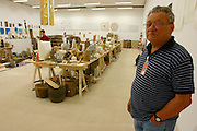 """Ivan Kozaric (in the picture)/Croatia, """"The Atelier Kozaric"""" (2002) site..Old Binding Brewery exhibition site."""