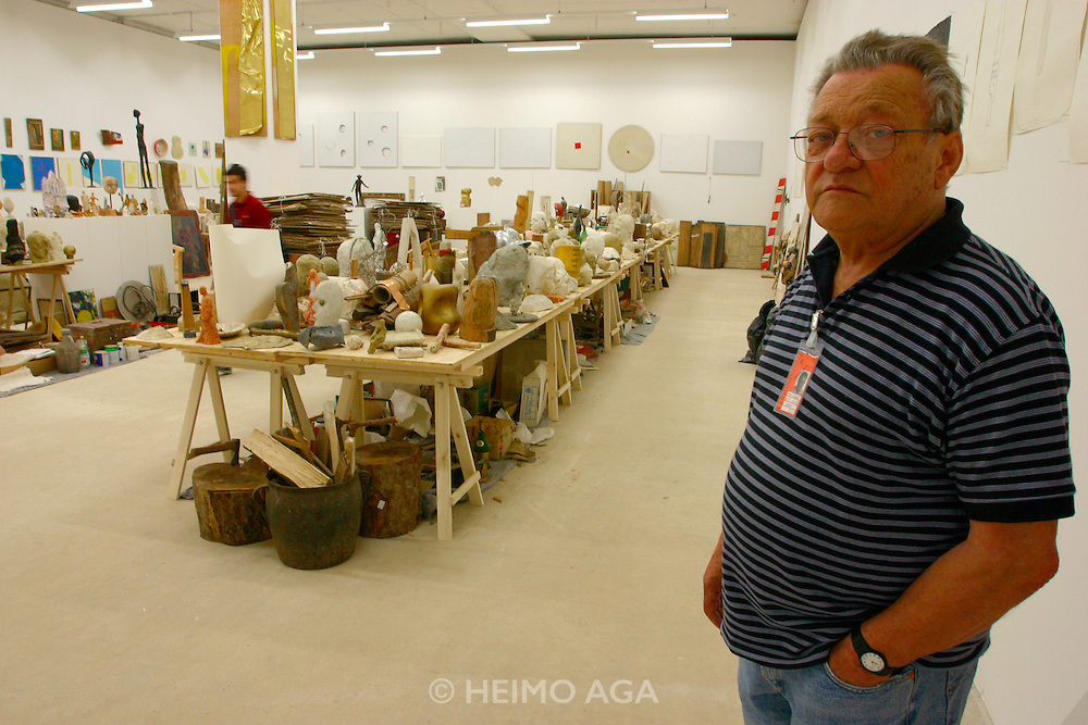 "Ivan Kozaric (in the picture)/Croatia, ""The Atelier Kozaric"" (2002) site..Old Binding Brewery exhibition site."