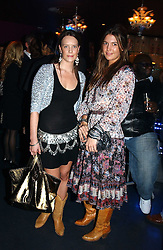 Left to right, ARABELLA MUSGRAVE and AMANDA SHEPPARD at a party hosted by Panerai and the Baglioni Hotel, 60 Hyde Park Gate, London on 6th December 2004.<br />