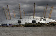 Millenium Dome, now the O2, seen from the river in dramatic light