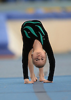 20 Aug 2016: Anna O'Shea, from Kerry, performs in the U9 Gymnastics.   2016 Community Games National Festival 2016.  Athlone Institute of Technology, Athlone, Co. Westmeath. Picture: Caroline Quinn
