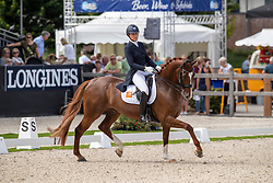 De Vries Mara, NED, Habibi DVB<br /> World Championship Young Dressage Horses - Ermelo 2019<br /> © Hippo Foto - Dirk Caremans<br /> De Vries Mara, NED, Habibi DVB