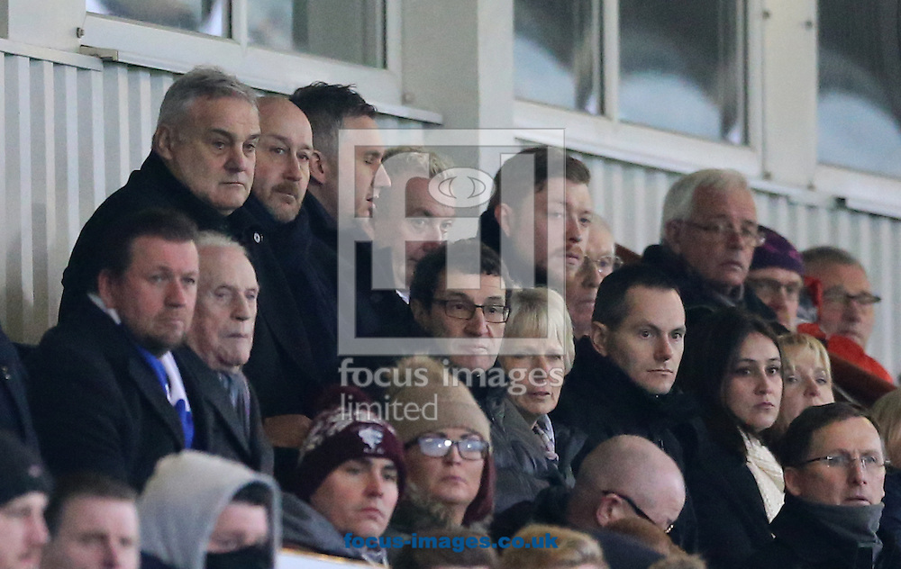 Future Hartlepool United manager Dave Jones (back row left) watches from the stand during the Sky Bet League 2 match at Victoria Park, Hartlepool<br /> Picture by Simon Moore/Focus Images Ltd 07807 671782<br /> 21/01/2017