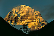 Mt Kailas sunrise on eastern flank of the sacred peak, Tibet