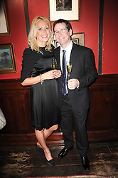 Restauranteur ANDREW FAIRLIE and KATE RITCHIE at the Johnnie Walker Blue Label Great Scot Award 2010 in association with The Spectator and Boisdale held at Boisdale of Belgravia, 22 Ecclestone Street, London SW1 on 24th February 2010.