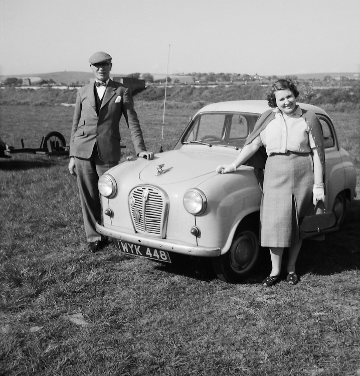 Couple with Car, England, c. 1952