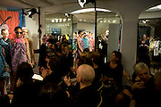 Alber Elbaz and models, The Launch of the Lanvin store on Mount St. Presentation and cocktails.  London. 26 March 2009