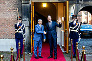 THE HAGUE - Prime Minister Mark Rutte received the president of the Cape Verde Republic, Jorge Carlos de Almeida Fonseca at the Binnenhof for the government lunch. The Cape Verdean president is in the Netherlands for a two-day state visit. COPYRIGHT ROBIN UTRECHT