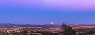 The Full &ldquo;Snow&rdquo; Moon of February 3, 2015 rising over Silver City, New Mexico in the blue of Earth&rsquo;s shadow and the pink of the Belt of Venus above. Jupiter is barely visible to the left of the Moon. I shot this from the Boston Hill trailhead at Market Street and Highway 180 west of the city. The coppery Moon rises to the left of the Santa Rita Coppermine, at the right of the image.<br /><br />This is a 4-panel panorama shot with the Canon 60Da and 50mm Sigma lens to cover the sweep of the horizon.