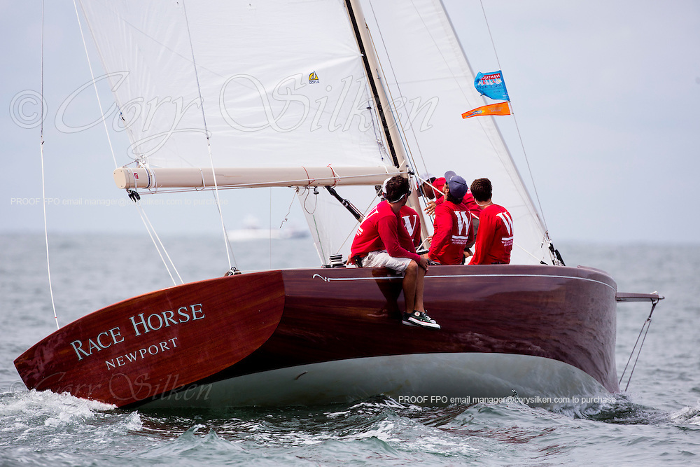 Race Horse sailing at the Opera House Cup Regatta.