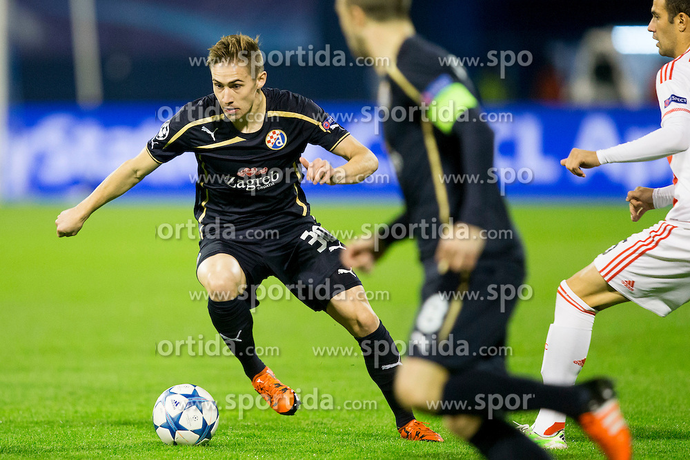 Marko Rog #30 of GNK Dinamo Zagreb during football match between GNK Dinamo Zagreb and Olympiakos in Group F of Group Stage of UEFA Champions League 2015/16, on October 20, 2015 in Stadium Maksimir, Zagreb, Croatia. Photo by Urban Urbanc / Sportida