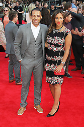 © Licensed to London News Pictures. 20/08/2013, UK. Marvin Humes; Rochelle Humes,  One Direction: This Is Us - World film premiere, Leicester Square, London UK, 20 August 2013<br />  Photo credit : Richard Goldschmidt/Piqtured/LNP