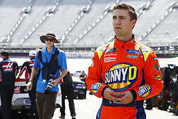 April 13, 2018 - Bristol, Tennessee, United States of America - April 13, 2018 - Bristol, Tennessee, USA: Ty Majeski (60) prepares to practice his Roush Fenway Racing Ford during opening practice for the Fitzgerald Glider Kits 300 at Bristol Motor Speedway in Bristol, Tennessee. (Credit Image: © Chris Owens Asp Inc/ASP via ZUMA Wire)