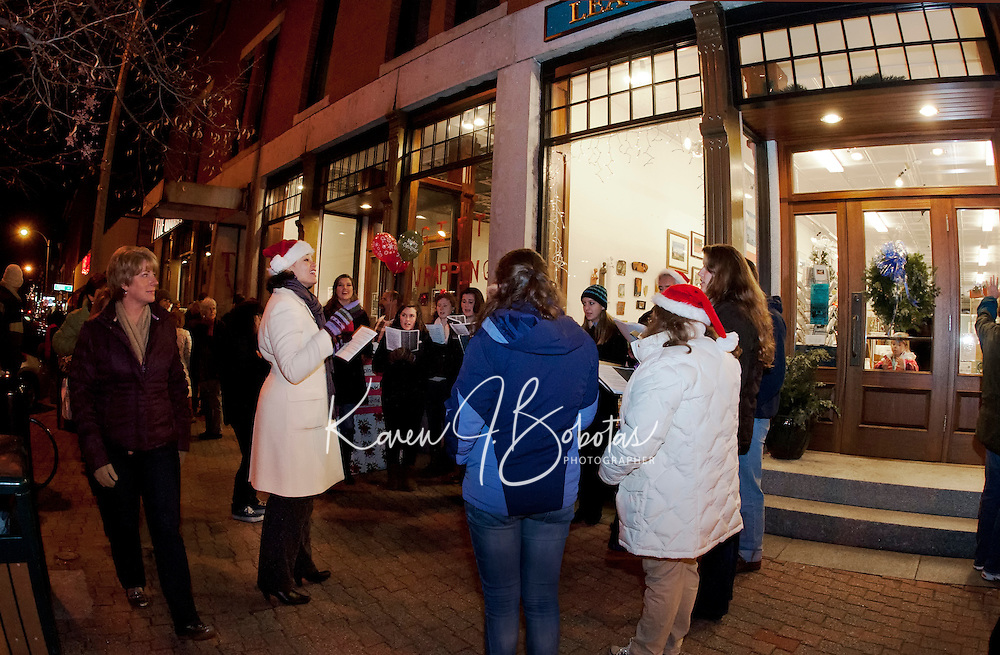 Opening night for Christmas Village in Laconia December 1, 2011.