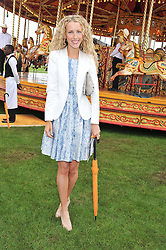 KATE FREUD at the 2012 Veuve Clicquot Gold Cup Final at Cowdray Park, Midhurst, West Sussex on 15th July 2012.
