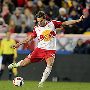 HARRISON, NEW JERSEY- November 06:  Damien Perrinelle #55 of New York Red Bulls in action during the New York Red Bulls Vs Montreal Impact MLS playoff match at Red Bull Arena, Harrison, New Jersey on November 06, 2016 in Harrison, New Jersey. (Photo by Tim Clayton/Corbis via Getty Images)