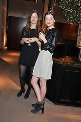 Left to right, TANSY BOYD and actress ANTONIA CLARKE  at a dinner hosted by Asprey for The Woodland Trust in support of the Jubilee Woods Project, held at Asprey, 167 New Bond Street, London on 22nd November 2012.