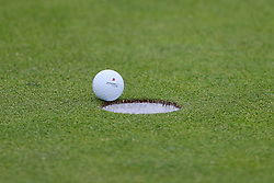 A view of a golf ball and hole during preview day four of The Open Championship 2018 at Carnoustie Golf Links, Angus. PRESS ASSOCIATION Photo. Picture date: Wednesday July 18, 2018. See PA story GOLF Open. Photo credit should read: Richard Sellers/PA Wire. RESTRICTIONS: Editorial use only. No commercial use. Still image use only. The Open Championship logo and clear link to The Open website (TheOpen.com) to be included on website publishing.