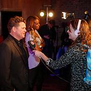 NLD/Hilversum/20130214 - Presentatie artiesten Nederland Muziekland 2013, Wolter Kroes en Glennis Grace worden geinterviewd