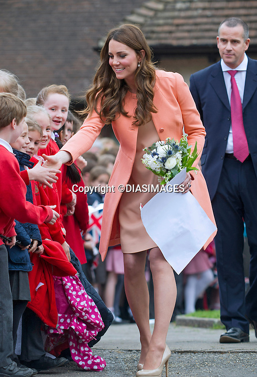 "CATHERINE, DUCHESS OF CAMBRIDGE .visits Naomi House Children's Hospice, Winchester_29/04/2013.Today is the 2nd anniversary of her marriage to Prince William..The Duchess is 7 months into her pregnancy..Mandatory credit photo:©DiasImages/NEWSPIX INTERNATIONAL..**ALL FEES PAYABLE TO: ""NEWSPIX INTERNATIONAL""**..PHOTO CREDIT MANDATORY!!: NEWSPIX INTERNATIONAL(Failure to credit will incur a surcharge of 100% of reproduction fees)..IMMEDIATE CONFIRMATION OF USAGE REQUIRED:.Newspix International, 31 Chinnery Hill, Bishop's Stortford, ENGLAND CM23 3PS.Tel:+441279 324672  ; Fax: +441279656877.Mobile:  0777568 1153.e-mail: info@newspixinternational.co.uk"