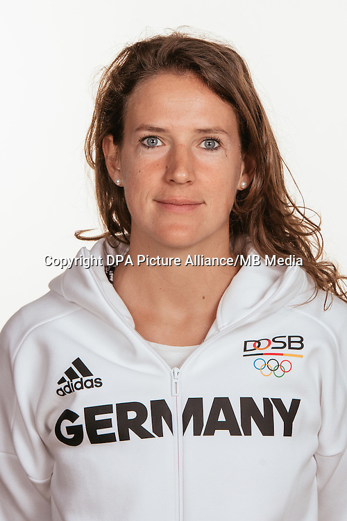 Janne Müller- Wieland poses at a photocall during the preparations for the Olympic Games in Rio at the Emmich Cambrai Barracks in Hanover, Germany, taken on 15/07/16 | usage worldwide