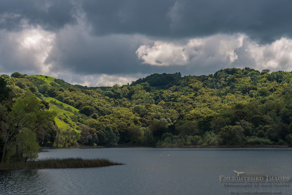 Storm clouds over the Lafayette Resevoir, Lafayette, Contra Costa County, California