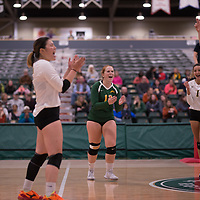 4th year libero  Taylor Ungar (13) of the Regina Cougars in action during Women's Volleyball home game on November 3 at Centre for Kinesiology, Health and Sport. Credit: Arthur Ward/Arthur Images