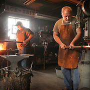 Terry Allen of Mountain Man Blacksmithing in Piqua, Ky., on Friday, December 30, 2011. Photo by David Stephenson