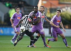 Stanley Aborah of Notts County (L) and Hiram Boateng of Plymouth Argyle in action - Mandatory byline: Jack Phillips / JMP - 07966386802 - 11/10/2015 - FOOTBALL - Meadow Lane - Nottingham, Nottinghamshire - Notts County v Plymouth Argyle - Sky Bet Championship