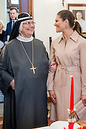 15-12-2016 ROME ITALY - Princess Victoria and Prince Daniel  VISIT TO THE BIRGITTA SISTERS <br />  The Crown Princess Couple and Minister for Upper Secondary School and Adult Education and Training Anna Ekstr&ouml;m will meet with the Birgitta sisters. <br />  The Crown Princess Couple&rsquo;s Princess Victoria and Prince Daniel visit to Rome and Milan, Italy, December 15-17  COPYRIGHT ROBIN UTRECHT