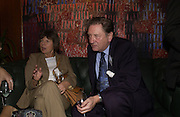 Margaret Drabble and Michael Holroyd. 70th anniversary of the RNIB Talking `book service. Arts Club. Dover St. London.  8 November 2005 . ONE TIME USE ONLY - DO NOT ARCHIVE © Copyright Photograph by Dafydd Jones 66 Stockwell Park Rd. London SW9 0DA Tel 020 7733 0108 www.dafjones.com