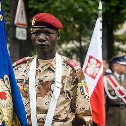 Délégations étrangères sur les Champs Elysées à l'occasion de la célébration du 14 juillet et du centenaire de la première guerre mondiale. <br /> Juillet 2014 / Paris (75) / FRANCE