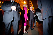Republican Presidential Candidate Newt Gingrich and his wife Callista leave the victory party at the Hilton Hotel in Columbia after a solid victory in South Carolina. Next stop; Florida.