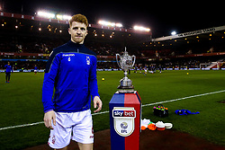 Jack Colback of Nottingham Forest walks past The Brian Clough Trophy on a Sky Bet plinth at The City ground ahead of Nottingham Forest v Derby County - Mandatory by-line: Robbie Stephenson/JMP - 25/02/2019 - FOOTBALL - The City Ground - Nottingham, England - Nottingham Forest v Derby County - Sky Bet Championship