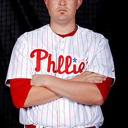 February 22, 2011; Clearwater, FL, USA; Philadelphia Phillies pitcher Andrew Carpenter (48) poses during photo day at Bright House Networks Field. Mandatory Credit: Derick E. Hingle