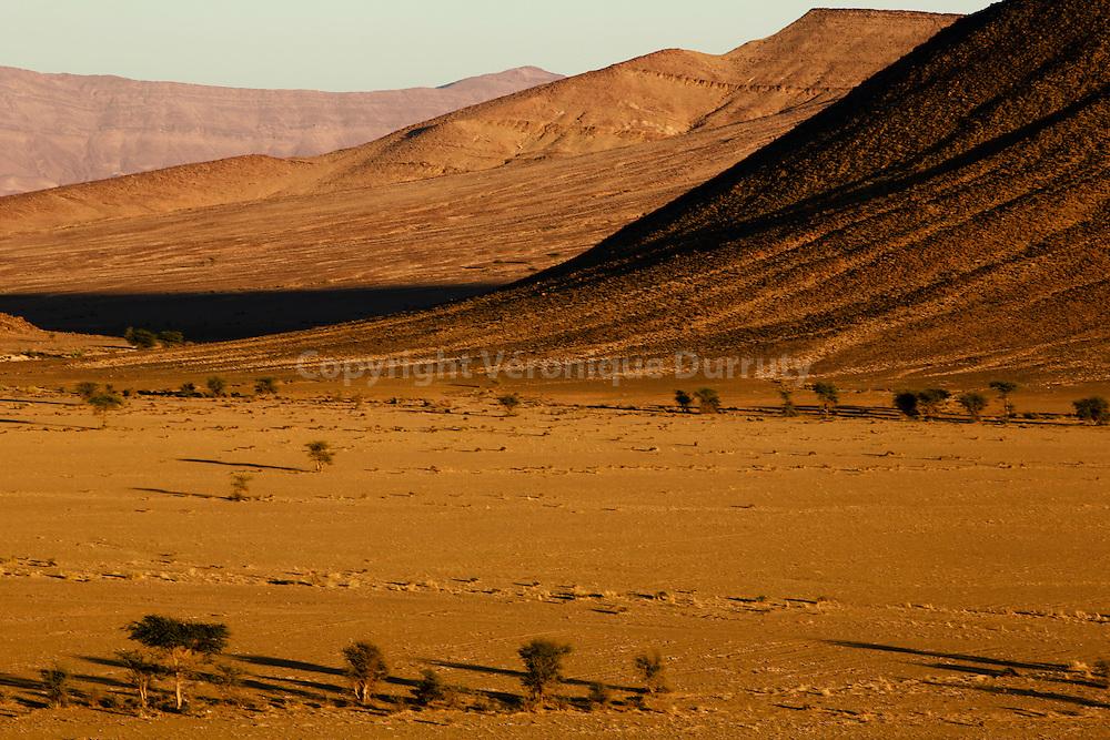 Le désert dans la région de Tata, sud marocain, // desert near Tata, Southern Morocco