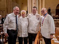 Paul Bocuse's funeral took place in the cathedral St Jean, Lyon.<br /> Jacques et Christophe Marguin and Joel Rebuchon, chefs