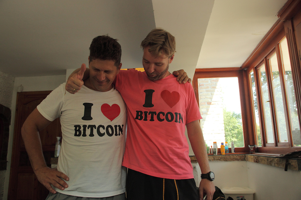 Kenneth Lilieholm (Liberland Settlement Association Manager) showing how much he loves bitcoins
