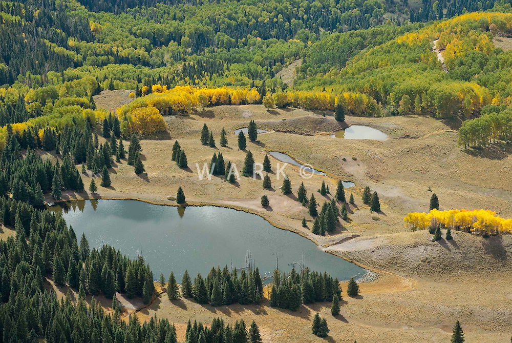 Fall colors and lake in south central Colorado