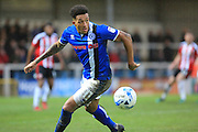 Nathaniel Mendez-Laing during the EFL Sky Bet League 1 match between Rochdale and Sheffield Utd at Spotland, Rochdale, England on 4 March 2017. Photo by Daniel Youngs.