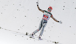 29.12.2015, Schattenbergschanze, Oberstdorf, GER, FIS Weltcup Ski Sprung, Vierschanzentournee, Bewerb, im Bild Richard Freitag (GER) // Richard Freitag of Germany reacts after his 2nd Competition Jump of Four Hills Tournament of FIS Ski Jumping World Cup at the Schattenbergschanze, Oberstdorf, Germany on 2015/12/29. EXPA Pictures © 2016, PhotoCredit: EXPA/ JFK