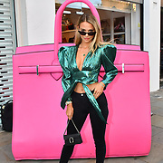 Sophie Herman arrive at the Handbag Clinic - relaunch at 382 King's Road on 4 September 2019, London, UK.